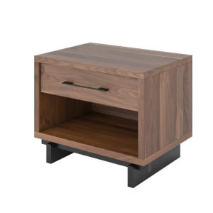 Trik Night Stand, Walnut, Birch, made in Canada, VerBois, custom made, modern, Bed Room, contemporary, unique
