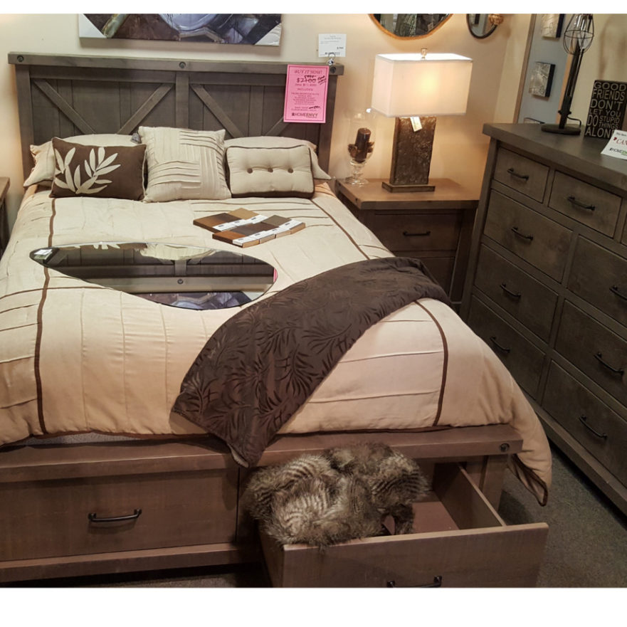 Sale truss bedroom suite home envy furnishings solid for Model home furniture for sale california