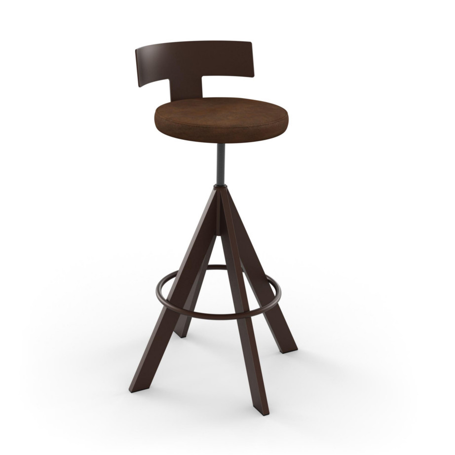 custom stool, metal, iron, steel, fabric, leather, distressed wood, solid birch, traditional, modern, urban, rustic, bar, pub, counter, island, kitchen, amiss, made in canada, uplift swivel stool