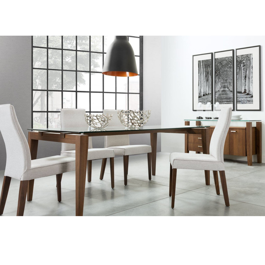 Val Table No Leaf Dining Room Leg Tables Birch Contemporary Extension