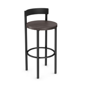 Zoe Stool 1, pub stool, counter stool, bar stool, counter height, bar height, custom made, custom stool, metal, iron, steel, fabric, leather, distressed wood, solid birch, traditional, modern, urban, rustic, bar, pub, counter, island, kitchen, amisco, made in canada,