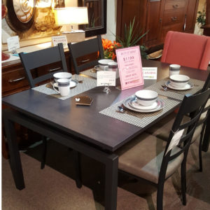 rustic wood, solid wood, dining suite, on sale, clearance sale, furniture sale, floor model sale