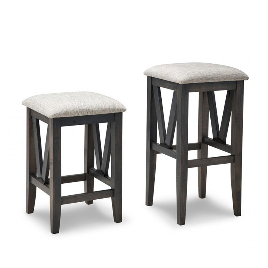 Cherry Backless Bar Stools