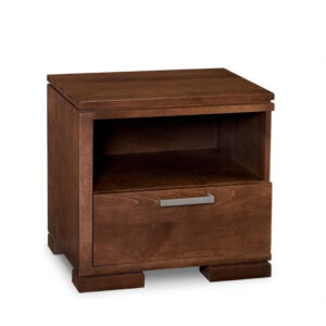 solid wood cordova night stand with open cubby