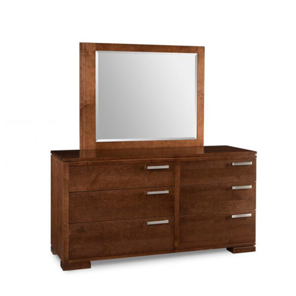 cordova dresser, handstone, solid wood, rustic wood, modern, urban, contemporary, maple, cherry, oak, solid wood, made in canada, canadian made, master bedroom, drawers, storage, mirror
