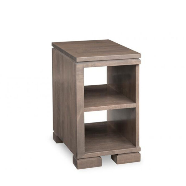 narrow cordova chairside table with shelf