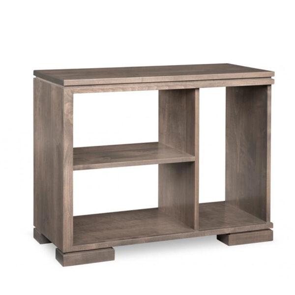 condo size cordova small sofa table in solid wood