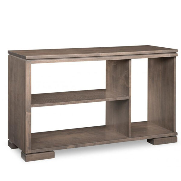 open design cordova sofa table in solid wood