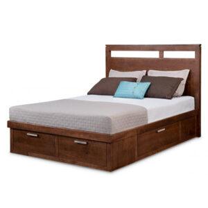 solid wood cordova storage bed with drawers