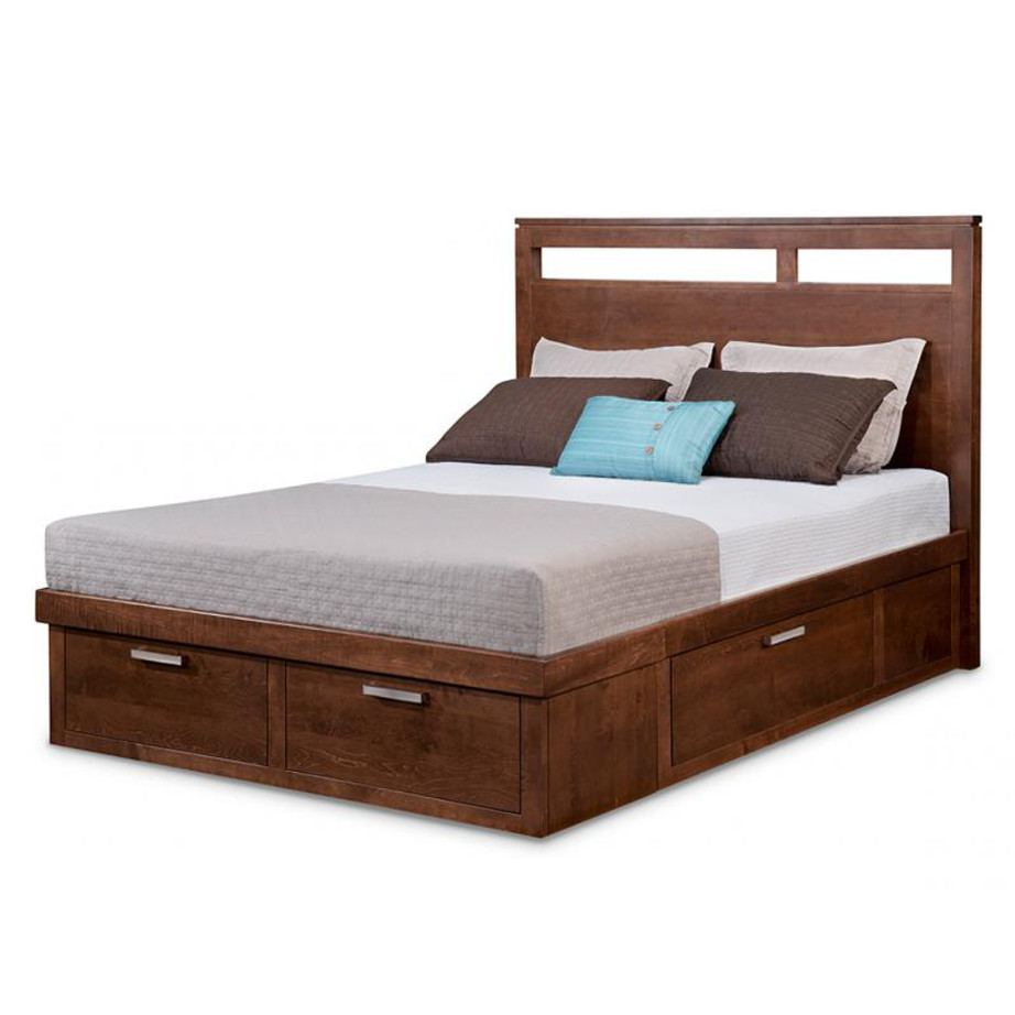 Oak Wood Platform Bed