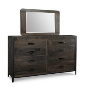 solid rustic maple portland dresser with mirror