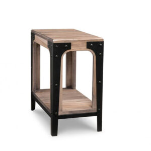 solid wood and metal portland chairside table for small spaces