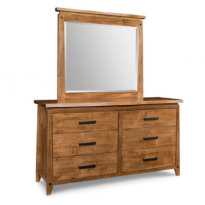 solid wood, canadian made pemberton dresser with mirror and 6 drawers