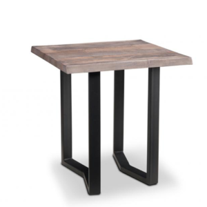 solid wood pemberton live edge end table with square top