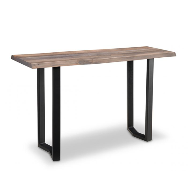 solid rustic maple wood pemberton live edge table with metal base