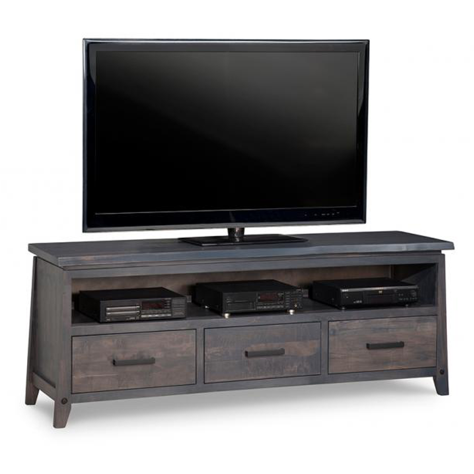 handstone, made in canada, solid wood furniture, rustic furniture, modern furniture, craftsman furniture, live edge furniture, amish style furniture, shelving, office furniture ideas, hdtv console, tv console, custom tv cabinet, custom tv console, pemberton tv console large