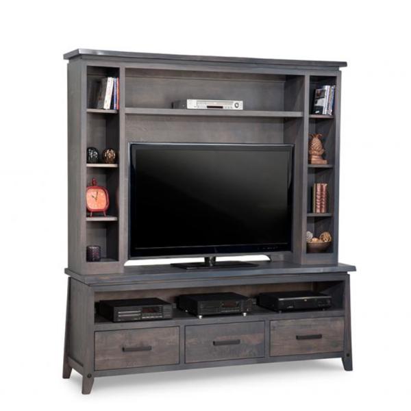 solid wood pemberton wall unit for big screen tv