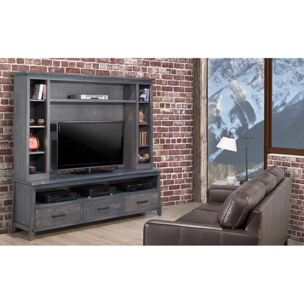 handstone, made in canada, solid wood furniture, rustic furniture, modern furniture, craftsman furniture, live edge furniture, amish style furniture, shelving, office furniture ideas, hdtv console, tv console, custom tv cabinet, custom tv console, pemberton wall unit room