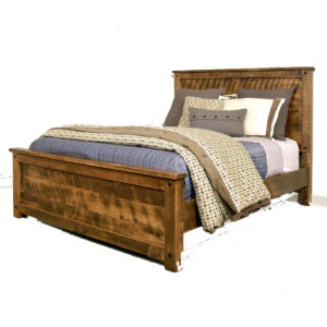 made in canada rustic wood adirondack bed with wood footboard