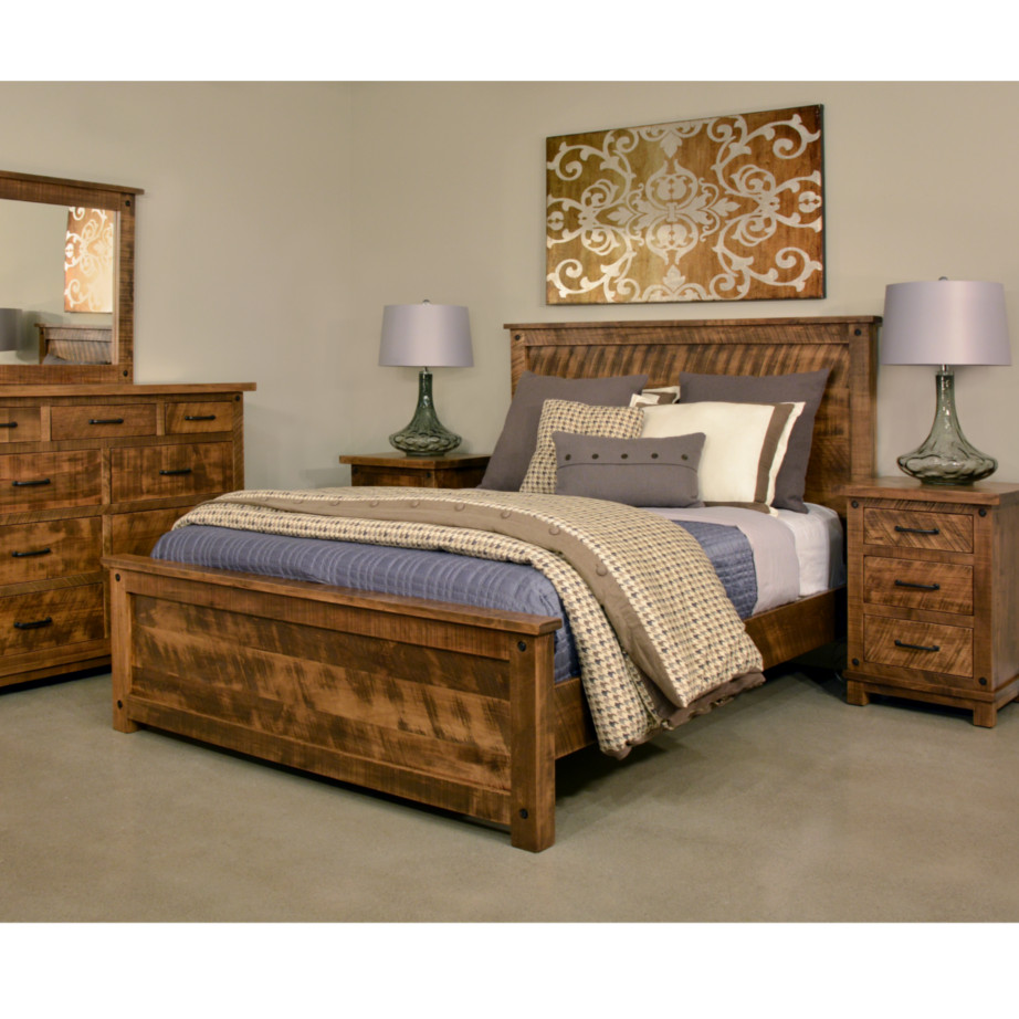 solid wood bed  rustic furniture  made in canada  canadian made  rustic  bedroom. Adirondack Bed   Home Envy Furnishings  Solid Wood Furniture Store