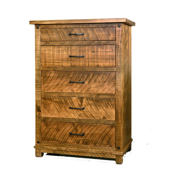 amish made solid wood adirondack chest in custom made size option