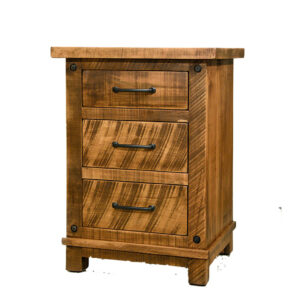 mennonite made in canada adirondack night stand in fruitwood finish