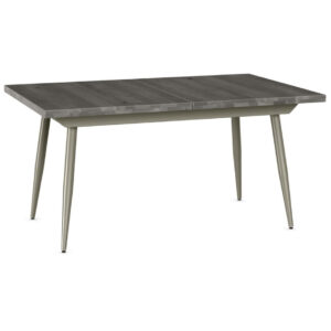 amsico table, canadian made, made in canada, rustic wood, metal base, industrial, modern, mid century, belleville table