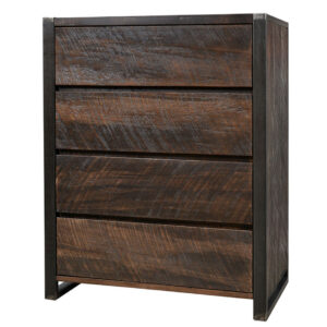 solid wood canadian made carson chest with rustic finishing
