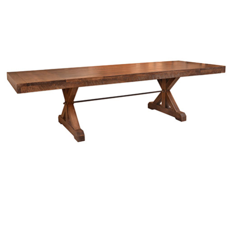 contemporary, distressed, extension table, farmhouse, industrial, leaf, leaves, made in canada, maple, modern, ruff sawn, rustic, solid top, solid wood, Dining Room, Tables, Trestle Tables, rustic wood kitchen furniture, modern kitchen furniture, kitchen furniture, custom built kitchen furniture, Chesapeake Table, Chesapeake, Table, Chesapeake Table Leaves