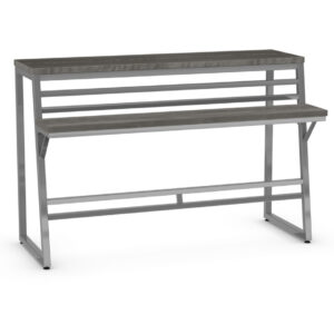 metal frame crawford island console table with solid wood top