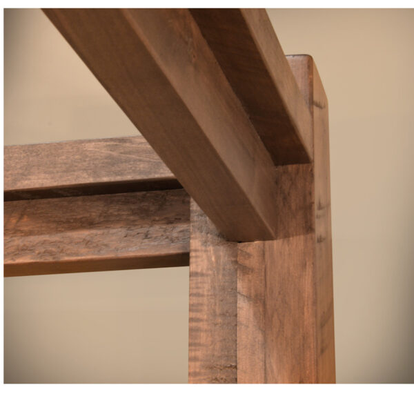 canopy bed detail on ruff sawn greystone bed