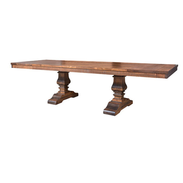 mennonite made quality heritage solid wood table with leaf end extensions