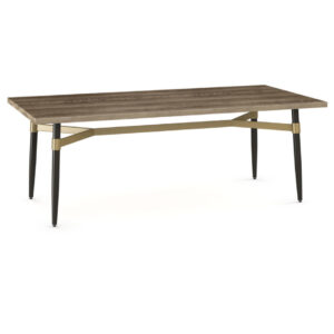 amsico table, canadian made, made in canada, rustic wood, metal base, industrial, modern, mid century, Link table