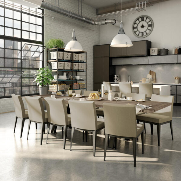 modern pablo dining chair in industrial home kitchen setting