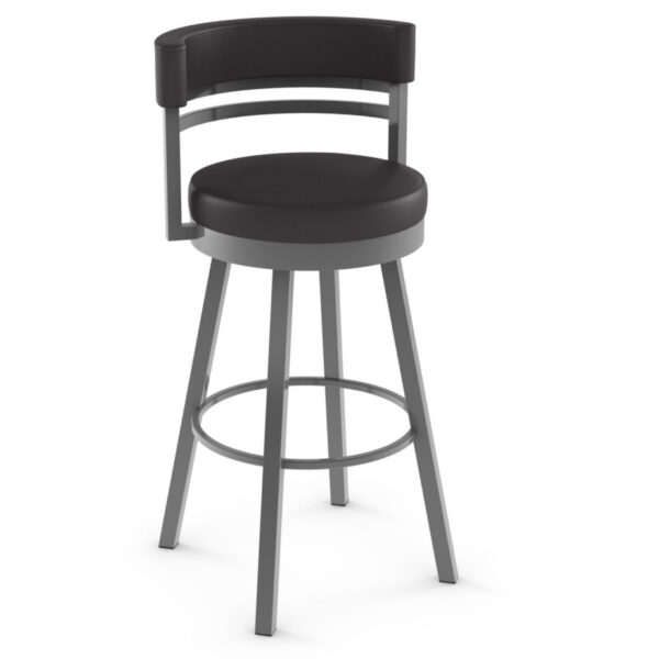 leather fabric option shown on the ronny stool with swivel seat