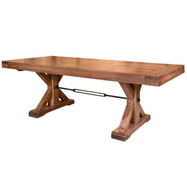 solid rustic maple shore table with distress wood top by ruff sawn