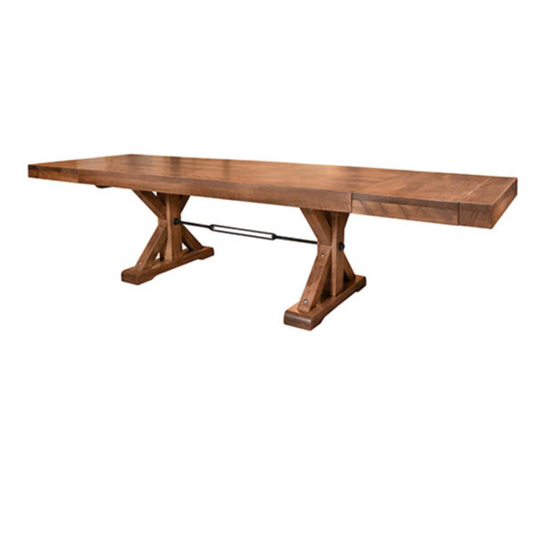made in canada rustic wood shore table with leaf end extensions