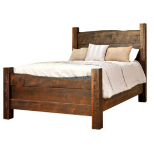 solid rustic wood live edge bed in king size
