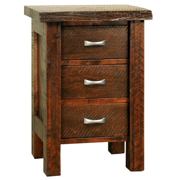 amish made live edge night stand