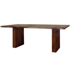mennonite built in canada pillar live edge table in solid rustic wood
