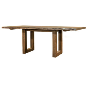 solid distressed wood modelli live edge table for the dining room