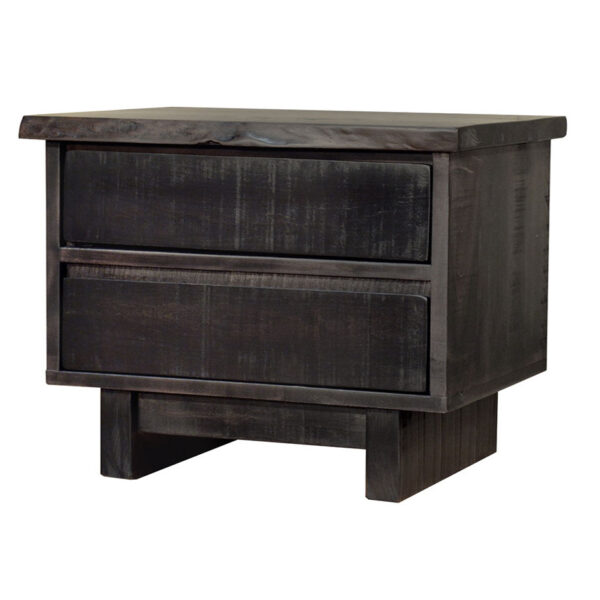 modern farmhouse modelli night stand with live edge top