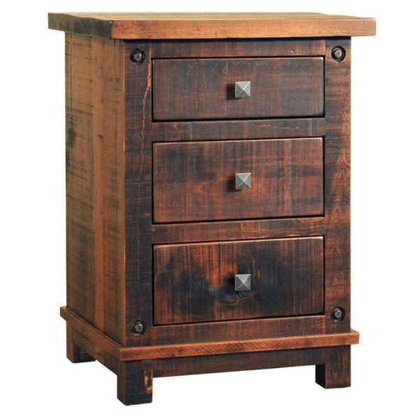 mennonite built muskoka night stand in solid rustic wood