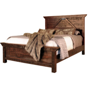 modern farmhouse rustic carlisle bed in rustic solid wood