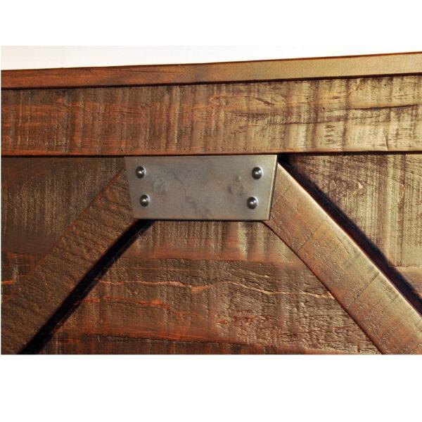 solid rustic wood detail of canadian made rustic carlisle bedroom suite