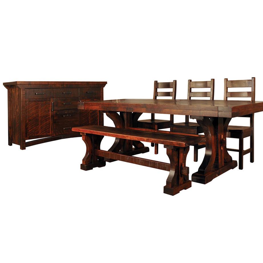Rustic Carlisle Trestle Table Home Envy Furnishings