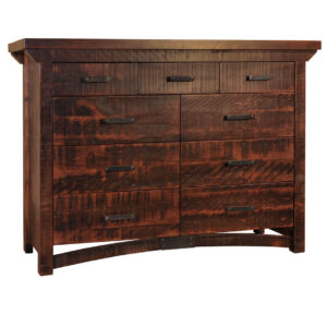 custom built in canada rustic carlisle dresser in custom wood finish