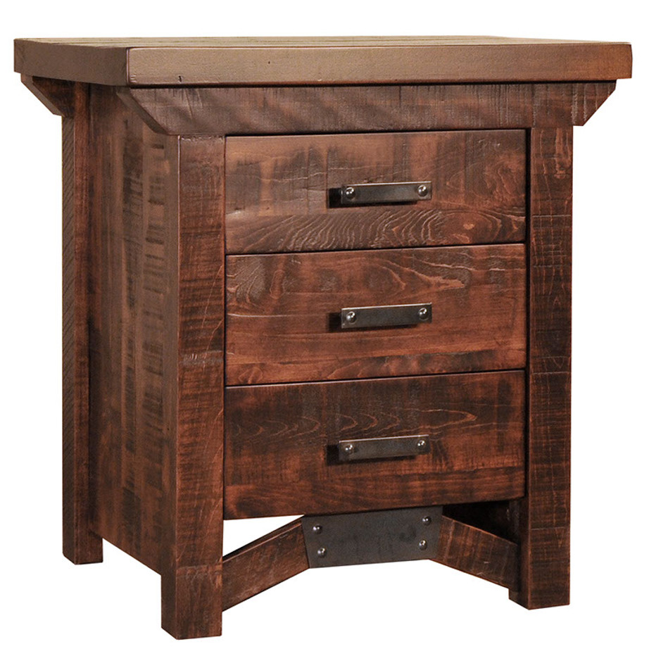 Rustic Carlisle Night Stand Home Envy Furnishings Solid
