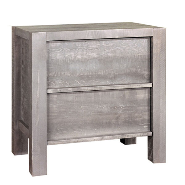 solid rustic wood sequoia night stand in distressed wood finishing