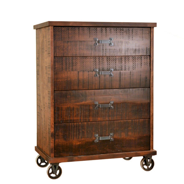 custom built steam punk chest of drawers in modern industrial style